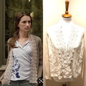 {Anthro} Guinevere Lace Cardigan